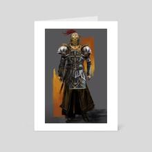 Golden Knight - Art Card by Josiah Herman