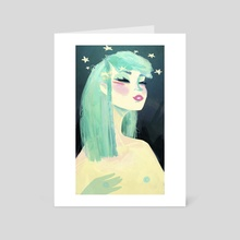 Girl - Art Card by Jonnakonna Uhrman