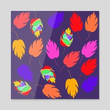 Bright leaves - Acrylic by Luiza Kozich