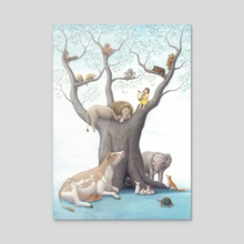 A tree of lullaby - Acrylic by Chinatsu Hagino