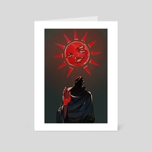 Red father - Art Card by Caterina Pizarro