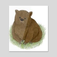 """Wombat - Acrylic by Leslie """"Wren"""" Vandever"""