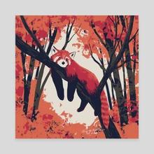 Red panda - Canvas by Birgitte Johnsen
