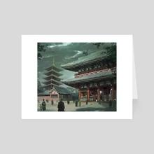 """Eldritch Horror """"Tokyo"""" - Art Card by Emilio Rodríguez (Emkun)"""