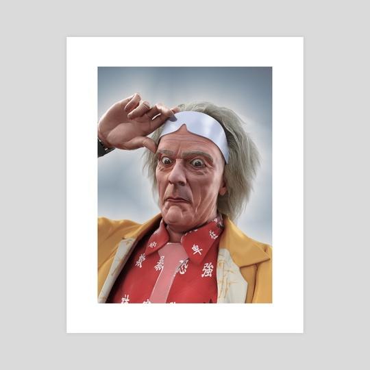 Doc Emmett Brown Portrait by Gregory Stoffel