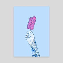 Brain ice cream! mmmmm  - Canvas by Evgenia Chuvardina