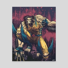 Wolverine Feral - Canvas by Jose  Real
