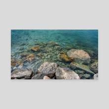 Shore of the Atlantic Ocean, New England landscape, Newport, Rhode Island, USA (2021-5-NEWP-22) - Canvas by Vlad Meytin