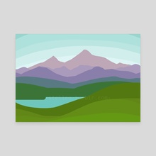 Mountains - Canvas by Zoë Hughes