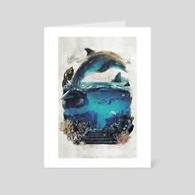 Surreal Dolphin - Art Card by Barrett Biggers