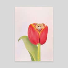 tulip mouse - Canvas by Rachel Qiuqi