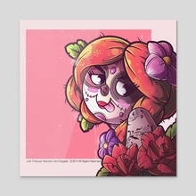 Funny Catrina - Acrylic by Nastytaino_