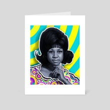 Aretha - Queen of Soul - Art Card by Andre Koekemoer
