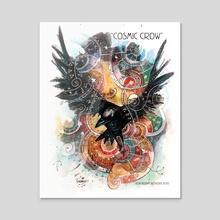 Cosmic Crow - Acrylic by Thomas Boatwright