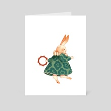 Bun Dance - Art Card by Rachel Suggs
