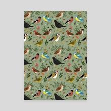 Garden Birds - Canvas by Sophie Eves