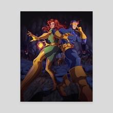 Phoenix & Cyclops! - Canvas by Joel Furtado