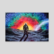 Cosmic rainbow - Canvas by Anna Shapovalova