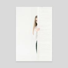 White stripe II - Canvas by Inna Mosina