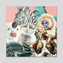 Biodiversity - Acrylic by Anna Sledz