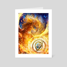 Watch me rise - Art Card by Louis Dyer