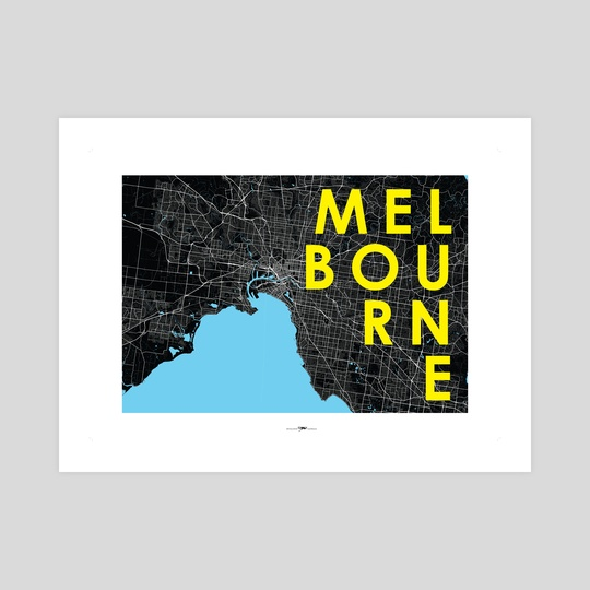 Typography Poster for Melbourne, Australia by Revolution Australia