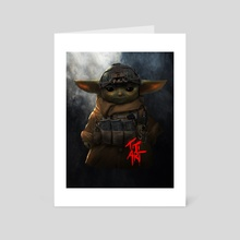 TACTICAL_YODA - Art Card by titiartist