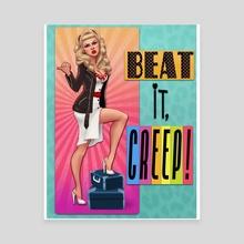 Wanda Woodward - Beat It Creep - Canvas by Crystal Wall Lancaster