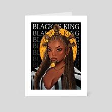 BEYONCE - BLACK IS KING  - Art Card by Geri Obiri