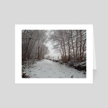 Winter in the valley - Art Card by Martin King