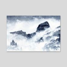 Fog Peak - Acrylic by Sebastian Bazzani