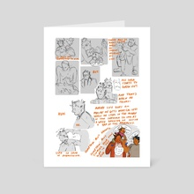 somethin' bout oranges - Art Card by Skep Frog