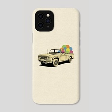 Pickup Truck - Phone Case by LennyCollageArt