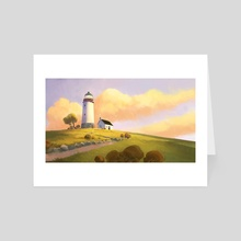 Lighthouse On A Hill - Art Card by Tuomas Korpi