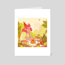 Pancake Witch - Art Card by Rosie Murrell