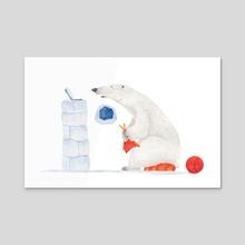 Big bear knitting - Acrylic by Meteleva Kseniia