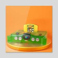 Nintendo 64 - Acrylic by Psychdre