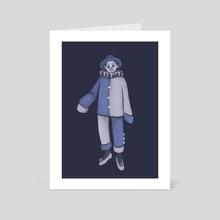 Blue - Art Card by Siobhan