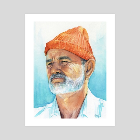 Bill Murray as Steve Zissou from The Life Aquatica by Olga Shvartsur