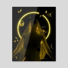 Priestess - Acrylic by Tuomo Korhonen
