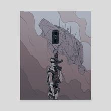 Warrior I - Canvas by Mario Carrascal
