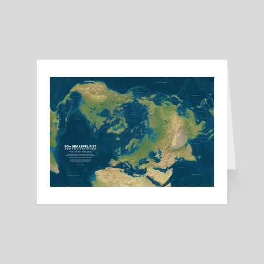 80m Sea Level Rise - Northern Hemisphere by Christopher Bretz