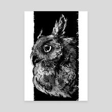Owl - Canvas by Natalia Ponarina