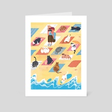 Tashirojima: The Cat Island - Art Card by Alice Yu Deng
