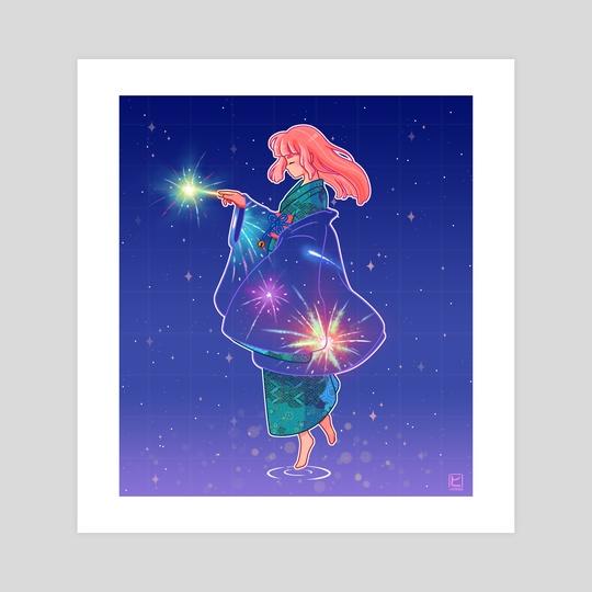 Hanabi Haori Girl by Viwitched Art