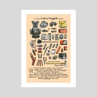 My Brother's Wildland Firefighter Pack Gear - Art Print by Liza Ferneyhough