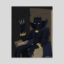 Black Panther - Canvas by Matthew Johnson