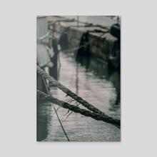Old Sailing Ropes - Acrylic by Luigi Veggetti