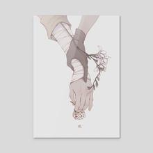 Link - Acrylic by Cynthia Tedy