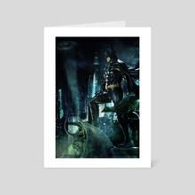 Batman 1989 on Gargoyle Variant 2 - Art Card by George Evangelista